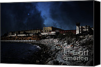 Johnny Cash Canvas Prints - Nightfall Over Hard Time - San Quentin California State Prison - 5D18454 Canvas Print by Wingsdomain Art and Photography
