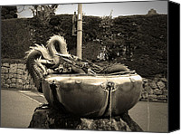 Dragon Photo Canvas Prints - Nikko Fountain Canvas Print by Irina  March
