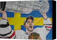 Flyers Canvas Prints - Niklas Hjalmarsson with cup Canvas Print by Brian Schuster