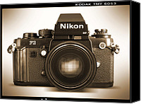 Film Camera Canvas Prints - Nikon F3 HP Canvas Print by Mike McGlothlen
