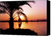 Desert Canvas Prints - Nile Sunset Canvas Print by Kurt Van Wagner