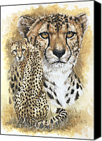 Wildcats Canvas Prints - Nimble Canvas Print by Barbara Keith