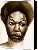 Nina Simone Canvas Prints - Nina Canvas Print by Dallas Roquemore