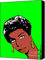 Nina Simone Canvas Prints - Nina Canvas Print by Michael X