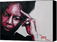 Nina Simone Canvas Prints - Nina Simone  Canvas Print by Khairzul MG