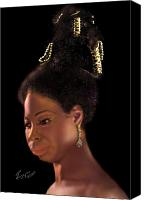 Nina Simone Canvas Prints - Nina Simone Canvas Print by Reggie Duffie
