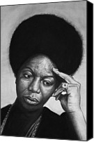 Nina Simone Canvas Prints - Nina Simone Canvas Print by Steve Hunter