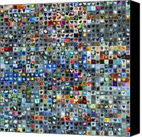 Collage Canvas Prints - Nine Hundred and One Hearts Canvas Print by Boy Sees Hearts