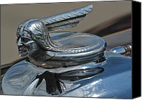 Custom Ford Canvas Prints - Nineteen Thirty Pontiac Hood Ornament Canvas Print by Robert Harmon
