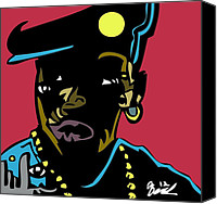 Popstract Canvas Prints - Nino Brown full color Canvas Print by Kamoni Khem