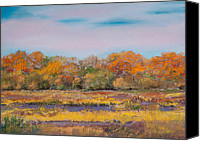 Pastel Landscape Canvas Prints - Nisqually Wildlife Refuge in Autumn Canvas Print by David Patterson