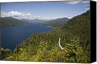 Success Photo Canvas Prints - Nitinat Lake On A Summer Day Canvas Print by Taylor S. Kennedy