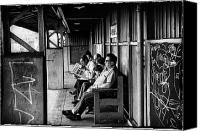 Subway Station Photo Canvas Prints - Nixon and Dean in the New York Post Canvas Print by Madeline Ellis