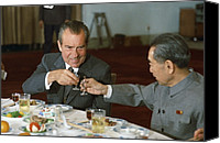 Politics Photo Canvas Prints - Nixon In China. President Richard Nixon Canvas Print by Everett