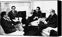 The White House Canvas Prints - Nixon Presidency. From Left Canvas Print by Everett