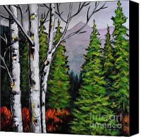 Birch Mixed Media Canvas Prints - No Boundaries Canvas Print by Vickie Warner