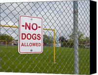 Field Sports Canvas Prints - No Dogs Allowed Sign Canvas Print by Thom Gourley/Flatbread Images, LLC