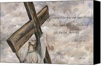 Religious Mixed Media Canvas Prints - No Greater Love Canvas Print by Chris Brandley