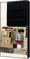 Mixed Media Art Canvas Prints - No Joke Canvas Print by Michel  Keck