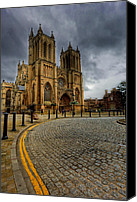 Cobbles Canvas Prints - No Parking Canvas Print by Adrian Evans