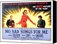 1950s Poster Art Canvas Prints - No Sad Songs For Me, Wendell Corey Canvas Print by Everett