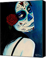 Woman Canvas Prints - No Se Olvide de Mi Canvas Print by Al  Molina
