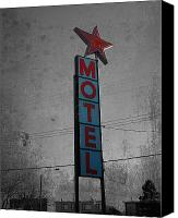 Drugs Greeting Cards Prints Canvas Prints - No Tell Motel Canvas Print by Jerry Cordeiro