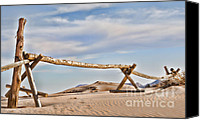Coral Pink Sand Dunes Canvas Prints - No Trespassing Canvas Print by Heather Applegate