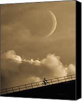 Crescent Moon Canvas Prints - No Turning Back Canvas Print by Bob Orsillo