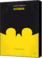 Dark Knight Canvas Prints - No008 My Batman minimal movie poster Canvas Print by Chungkong Art