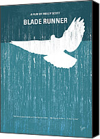 Ford Digital Art Canvas Prints - No011 My Blade Runner minimal movie poster Canvas Print by Chungkong Art