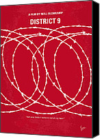 Science Fiction Canvas Prints - No023 My district9 minimal movie poster Canvas Print by Chungkong Art
