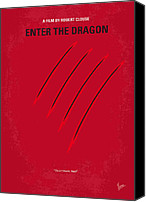 Martial Arts Canvas Prints - No026 My Enter the dragon minimal movie poster Canvas Print by Chungkong Art
