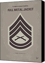 Kubrick Canvas Prints - No030 My full metal jacket minimal movie poster Canvas Print by Chungkong Art