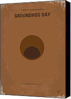 Groundhog Canvas Prints - No031 My Groundhog minimal movie poster Canvas Print by Chungkong Art