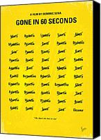 Minimalism Canvas Prints - No032 My Gone In 60 Seconds minimal movie poster Canvas Print by Chungkong Art