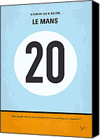 Minimalism Canvas Prints - No038 My Le Mans minimal movie poster Canvas Print by Chungkong Art