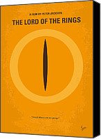Original Digital Art Canvas Prints - No039 My Lord of the Rings minimal movie poster Canvas Print by Chungkong Art