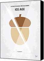Ice Age Canvas Prints - No041 My Ice Age minimal movie poster Canvas Print by Chungkong Art