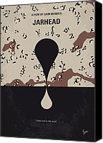 Storm Digital Art Canvas Prints - No045 My Jarhead minimal movie poster Canvas Print by Chungkong Art