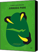 Original Digital Art Canvas Prints - No047 My Jurasic Park minimal movie poster Canvas Print by Chungkong Art