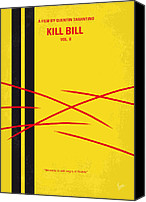 Martial Arts Canvas Prints - No049 My Kill Bill-part2 minimal movie poster Canvas Print by Chungkong Art