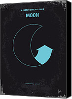 Minimalism Canvas Prints - No053 My Moon 2009 minimal movie poster Canvas Print by Chungkong Art