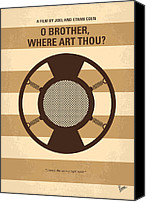 Brother Canvas Prints - No055 My O Brother Where Art Thou minimal movie poster Canvas Print by Chungkong Art