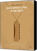 Minimalism Canvas Prints - No059 My once upon a time in the west minimal movie poster Canvas Print by Chungkong Art