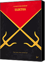 Martial Arts Canvas Prints - No060 My ELECTRA minimal movie poster Canvas Print by Chungkong Art