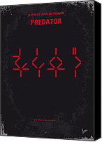Movie Poster Canvas Prints - No066 My predator minimal movie poster Canvas Print by Chungkong Art