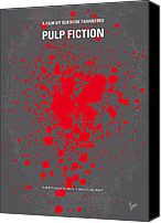  Poster Art Digital Art Canvas Prints - No067 My Pulp Fiction minimal movie poster Canvas Print by Chungkong Art
