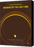 Ford Digital Art Canvas Prints - No068 My Raiders of the Lost Ark minimal movie poster Canvas Print by Chungkong Art