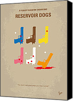 Orange Digital Art Canvas Prints - No069 My Reservoir Dogs minimal movie poster Canvas Print by Chungkong Art